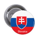 Flag of Slovakia 2 Inch Round Button