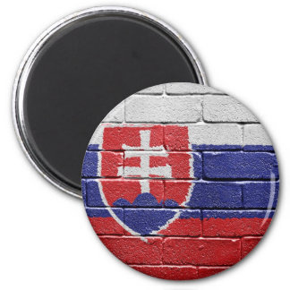 Flag of Slovakia 2 Inch Round Magnet