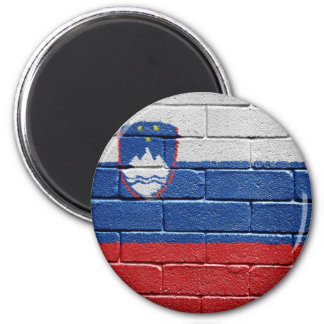 Flag of Slovenia 2 Inch Round Magnet