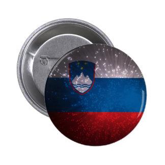 Flag of Slovenia Pinback Button