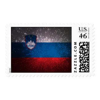 Flag of Slovenia Stamp