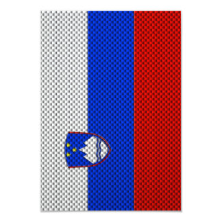 Flag of Slovenia with Carbon Fiber Effect Card