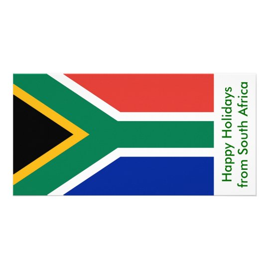 Flag of South Afric, Happy Holidays from Africa Card