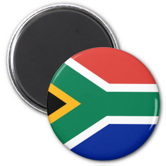 Flag of South Africa 2 Inch Round Magnet