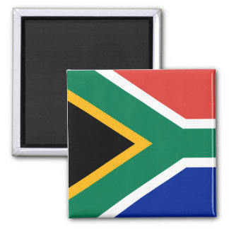 Flag of South Africa 2 Inch Square Magnet