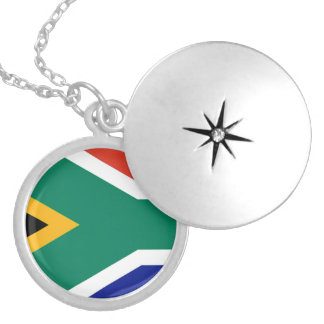 Flag of South Africa Bokke Locket Necklace