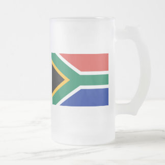 Flag of South Africa Frosted Glass Beer Mug