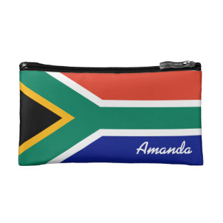 Flag of South Africa Personalized Cosmetic Bag