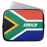 Flag of South Africa Personalized Laptop Computer Sleeve
