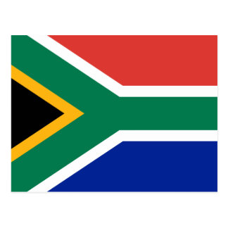 Flag of South Africa Postcard