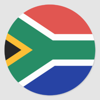 Flag of South Africa Classic Round Sticker