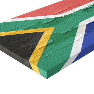 Flag of South Africa Weathered Paint Canvas Print