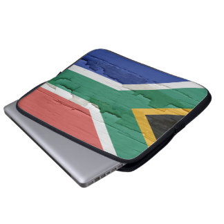 Flag of South Africa Weathered Paint Laptop Sleeve