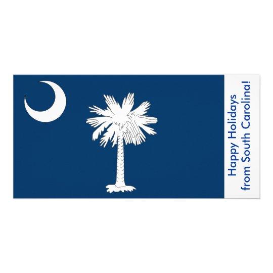 Flag of South Carolina, Happy Holidays from U.S.A. Card