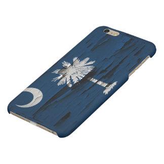 Flag of South Carolina Paint Peel Matte iPhone 6 Plus Case