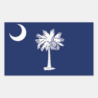 Flag of South Carolina Rectangle Stickers