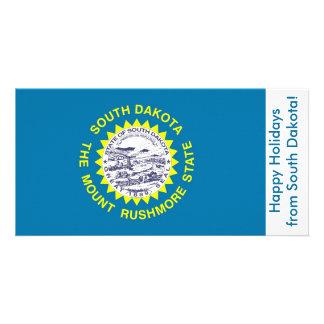 Flag of South Dakota, Happy Holidays from U.S.A. Card