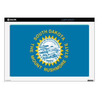 "Flag of South Dakota Decals For 17"" Laptops"