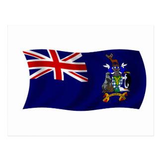 Flag of South Georgia and South Sandwich Islands Postcard