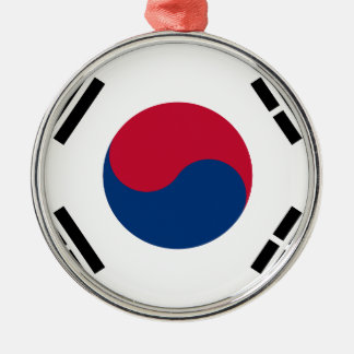 Flag of South Korea - 태극기 - 대한민국의 국기 Metal Ornament