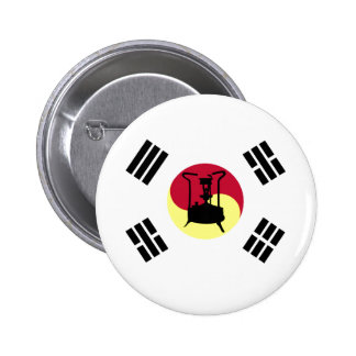 Flag of South Korea Brass paraffin pressure stove Button