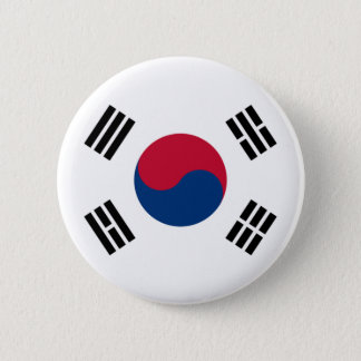 Flag of South Korea Button