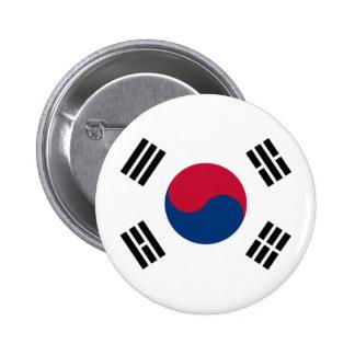 Flag of South Korea Button