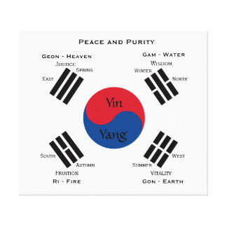 Flag of South Korea Canvas Print