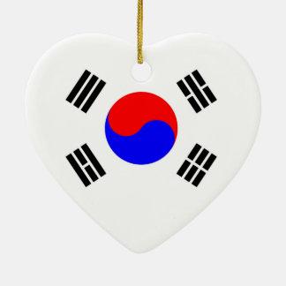 Flag of South Korea Ceramic Ornament
