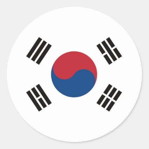 Flag_of_South_Korea Classic Round Sticker