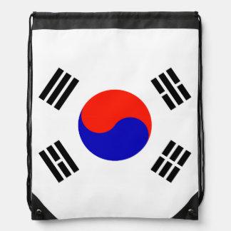 Flag of South Korea Drawstring Bag