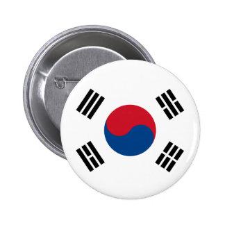 Flag of South Korea Pinback Button