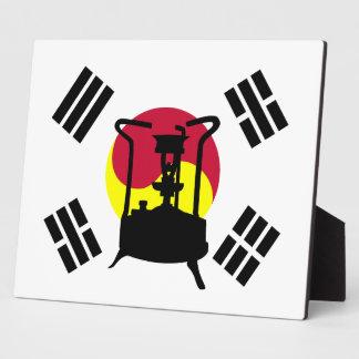 Flag of South Korea   Pressure stove Plaque