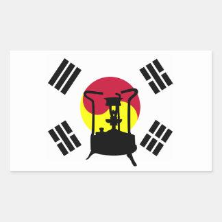 Flag of South Korea Pressure stove Rectangle Stickers