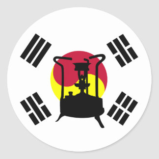 Flag of South Korea Pressure stove Round Sticker