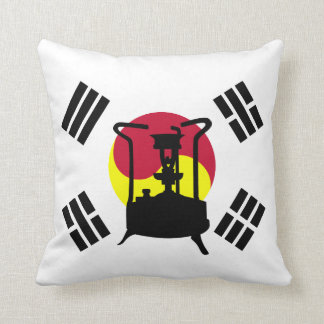 Flag of South Korea | Pressure stove Throw Pillow