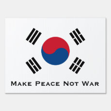 Flag of South Korea Sign
