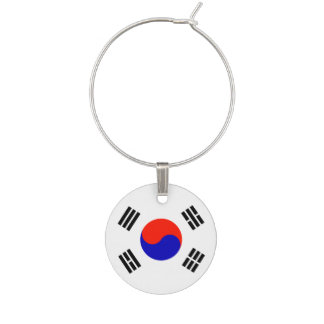 Flag of South Korea Wine Charm