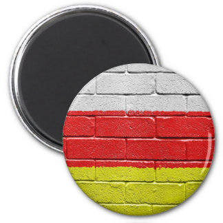 Flag of South Ossetia 2 Inch Round Magnet