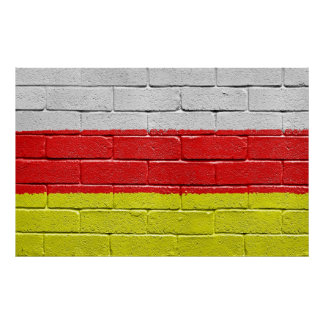 Flag of South Ossetia Poster