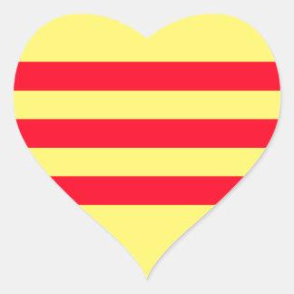 Flag of South Vietnam Heart Sticker