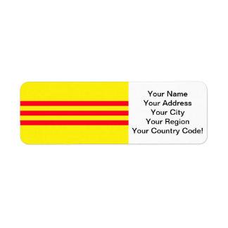 Flag of South Vietnam Return Address Label