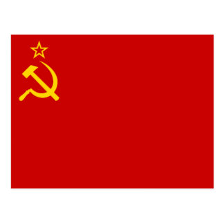 Flag of Soviet Union Postcard