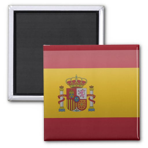 Flag of Spain 2 Inch Square Magnet