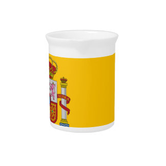 Flag of Spain - Bandera de España - Spanish Flag Beverage Pitcher
