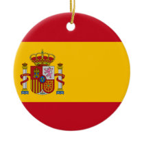 Flag of Spain - Bandera de España - Spanish Flag Ceramic Ornament