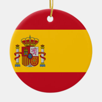 flag of spain bandera de espaa spanish flag ceramic ornament