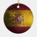 Flag of Spain Christmas Ornaments