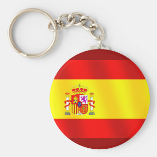 Flag of Spain for Spaniards worldwide Basic Round Button Keychain