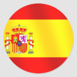 Flag of Spain for Spaniards worldwide Classic Round Sticker